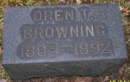 BROWNING, OREN T. - Stark County, Ohio | OREN T. BROWNING - Ohio Gravestone Photos