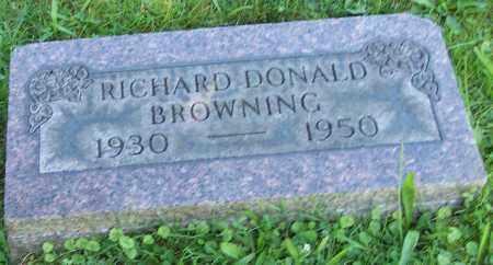 BROWNING, RICHARD DONALD - Stark County, Ohio | RICHARD DONALD BROWNING - Ohio Gravestone Photos