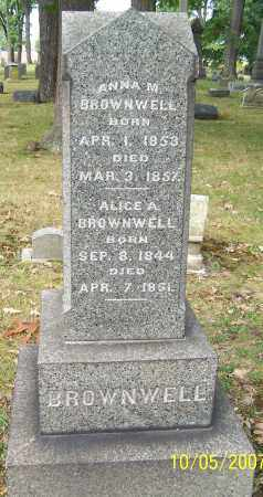 BROWNWELL, ANNA M. - Stark County, Ohio | ANNA M. BROWNWELL - Ohio Gravestone Photos