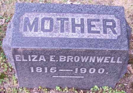 BROWNWELL, ELIZA E. - Stark County, Ohio | ELIZA E. BROWNWELL - Ohio Gravestone Photos