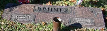 BRUNER, FRED O. - Stark County, Ohio | FRED O. BRUNER - Ohio Gravestone Photos