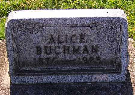 BUCHMAN, ALICE - Stark County, Ohio | ALICE BUCHMAN - Ohio Gravestone Photos