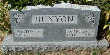 BUNYON, MARTHA E. - Stark County, Ohio | MARTHA E. BUNYON - Ohio Gravestone Photos