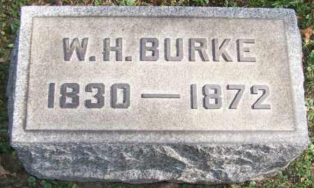 BURKE, W.H. - Stark County, Ohio | W.H. BURKE - Ohio Gravestone Photos