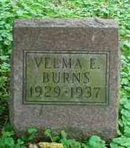 BURNS, VELMA E - Stark County, Ohio | VELMA E BURNS - Ohio Gravestone Photos