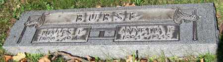 BURSE, ANNETTA F. - Stark County, Ohio | ANNETTA F. BURSE - Ohio Gravestone Photos
