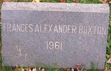 BUXTON, FRANCES ALEXANDER - Stark County, Ohio | FRANCES ALEXANDER BUXTON - Ohio Gravestone Photos