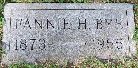 BYE, FANNIE H. - Stark County, Ohio | FANNIE H. BYE - Ohio Gravestone Photos