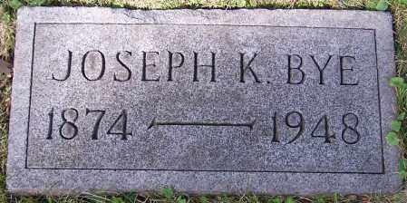 BYE, JOSEPH K. - Stark County, Ohio | JOSEPH K. BYE - Ohio Gravestone Photos