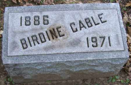 CABLE, BIRDINE - Stark County, Ohio | BIRDINE CABLE - Ohio Gravestone Photos