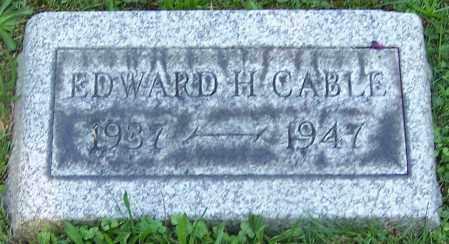 CABLE, EDWARD H. - Stark County, Ohio | EDWARD H. CABLE - Ohio Gravestone Photos