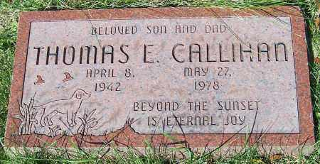 CALLIHAN, THOMAS E. - Stark County, Ohio | THOMAS E. CALLIHAN - Ohio Gravestone Photos