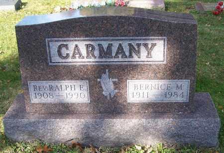 CARMANY, REV. RALPH E. - Stark County, Ohio | REV. RALPH E. CARMANY - Ohio Gravestone Photos