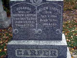 CARPER, SUSANNA - Stark County, Ohio | SUSANNA CARPER - Ohio Gravestone Photos