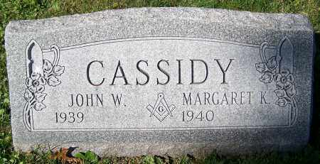 CASSIDY, JOHN W. - Stark County, Ohio | JOHN W. CASSIDY - Ohio Gravestone Photos