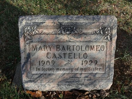 BARTOLOMEO CASTELLO, MARY - Stark County, Ohio   MARY BARTOLOMEO CASTELLO - Ohio Gravestone Photos