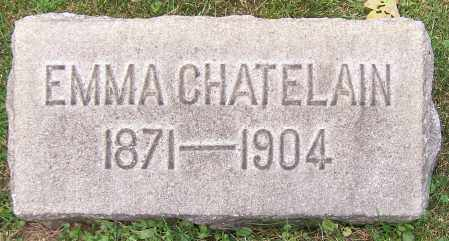 CHATELAIN, EMMA - Stark County, Ohio | EMMA CHATELAIN - Ohio Gravestone Photos