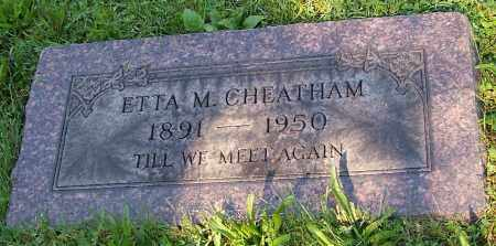CHEATHAM, ETTA M. - Stark County, Ohio | ETTA M. CHEATHAM - Ohio Gravestone Photos