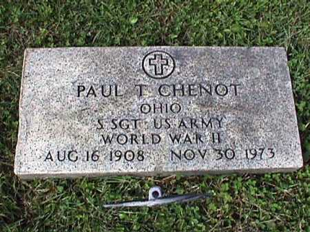 CHENOT, PAUL T. - Stark County, Ohio | PAUL T. CHENOT - Ohio Gravestone Photos