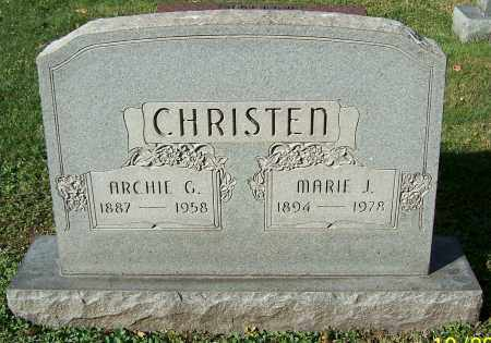 CHRISTEN, MARIE J. - Stark County, Ohio   MARIE J. CHRISTEN - Ohio Gravestone Photos