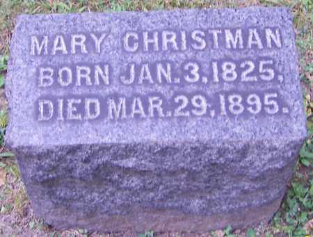 CHRISTMAN, MARY - Stark County, Ohio | MARY CHRISTMAN - Ohio Gravestone Photos