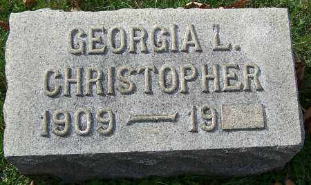 CHRISTOPHER, GEORGIA L. - Stark County, Ohio | GEORGIA L. CHRISTOPHER - Ohio Gravestone Photos
