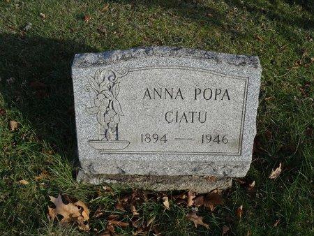CIATU, ANNA POPA - Stark County, Ohio   ANNA POPA CIATU - Ohio Gravestone Photos