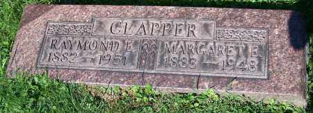 CLAPPER, RAYMOND E. - Stark County, Ohio | RAYMOND E. CLAPPER - Ohio Gravestone Photos