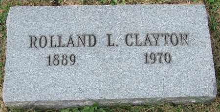 CLAYTON, ROLLAND L. - Stark County, Ohio | ROLLAND L. CLAYTON - Ohio Gravestone Photos