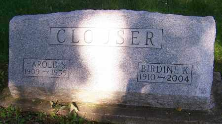CLOUSER, HAROLD S. - Stark County, Ohio | HAROLD S. CLOUSER - Ohio Gravestone Photos