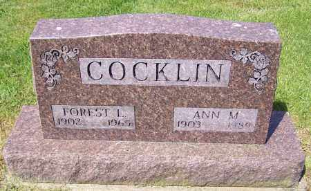 COCKLIN, ANN M. - Stark County, Ohio | ANN M. COCKLIN - Ohio Gravestone Photos