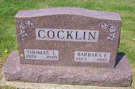 COCKLIN, BARBARA E. - Stark County, Ohio | BARBARA E. COCKLIN - Ohio Gravestone Photos