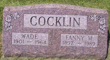 COCKLIN, WADE - Stark County, Ohio | WADE COCKLIN - Ohio Gravestone Photos