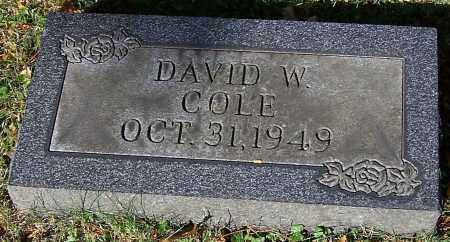 COLE, DAVID W. - Stark County, Ohio | DAVID W. COLE - Ohio Gravestone Photos