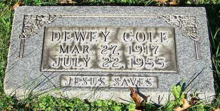 COLE, DEWEY - Stark County, Ohio | DEWEY COLE - Ohio Gravestone Photos