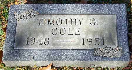 COLE, TIMOTHY G. - Stark County, Ohio | TIMOTHY G. COLE - Ohio Gravestone Photos