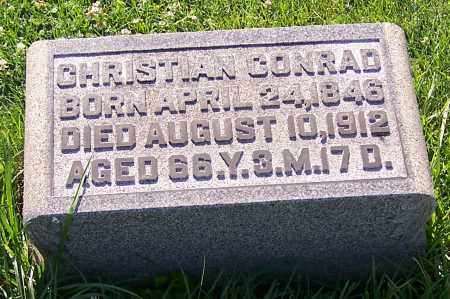 CONRAD, CHRISTIAN - Stark County, Ohio | CHRISTIAN CONRAD - Ohio Gravestone Photos