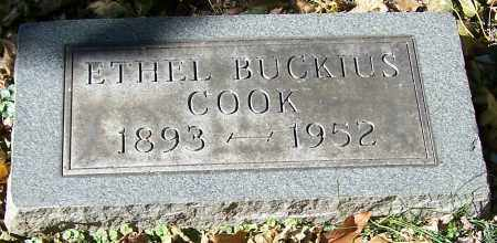 COOK, ETHEL BUCKIUS - Stark County, Ohio | ETHEL BUCKIUS COOK - Ohio Gravestone Photos