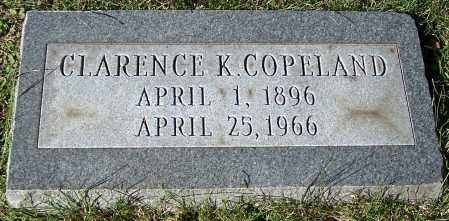 COPELAND, CLARENCE K. - Stark County, Ohio | CLARENCE K. COPELAND - Ohio Gravestone Photos