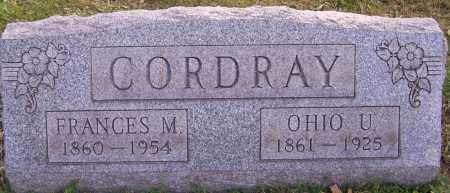 CORDRAY, OHIO U. - Stark County, Ohio | OHIO U. CORDRAY - Ohio Gravestone Photos