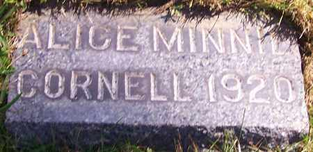 CORNELL, ALICE MINNIE - Stark County, Ohio | ALICE MINNIE CORNELL - Ohio Gravestone Photos