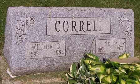 CORRELL, NETTA - Stark County, Ohio | NETTA CORRELL - Ohio Gravestone Photos