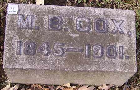 COX, M.B. - Stark County, Ohio | M.B. COX - Ohio Gravestone Photos