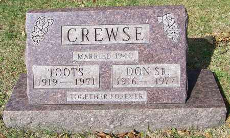 CREWSE, TOOTS - Stark County, Ohio | TOOTS CREWSE - Ohio Gravestone Photos