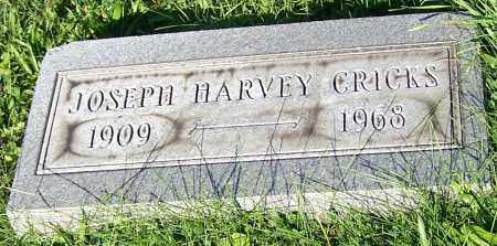 CRICKS, JOSEPH HARVEY - Stark County, Ohio | JOSEPH HARVEY CRICKS - Ohio Gravestone Photos
