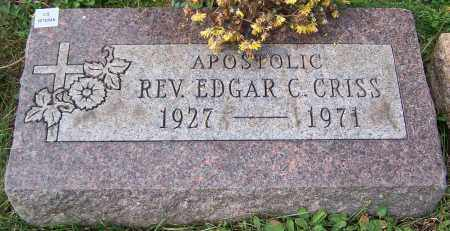 CRISS, REV. EDGAR C. - Stark County, Ohio | REV. EDGAR C. CRISS - Ohio Gravestone Photos