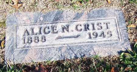 CRIST, ALICE N. - Stark County, Ohio | ALICE N. CRIST - Ohio Gravestone Photos