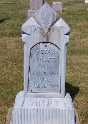 CROFT, PETER - Stark County, Ohio | PETER CROFT - Ohio Gravestone Photos