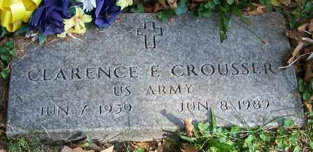 CROUSSER, CLARENCE E. - Stark County, Ohio | CLARENCE E. CROUSSER - Ohio Gravestone Photos