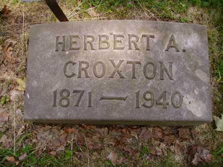 CROXTON, HERBERT A. - Stark County, Ohio | HERBERT A. CROXTON - Ohio Gravestone Photos